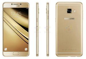 La prensa Samsung Galaxy C5 renderiza la superficie