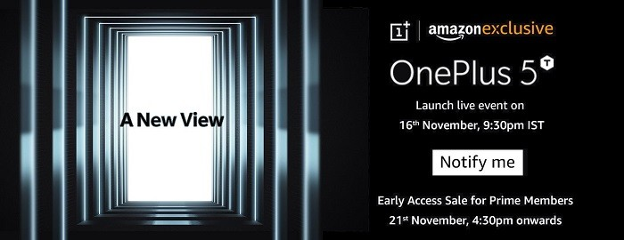 oneplus-5t-noviembre-21-rebajas-india-amazon-prime-exclusivo