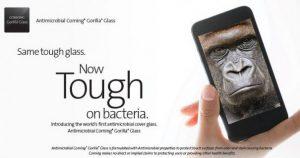 La próxima versión de Corning Gorilla Glass protegerá la pantalla de su teléfono inteligente de los gérmenes