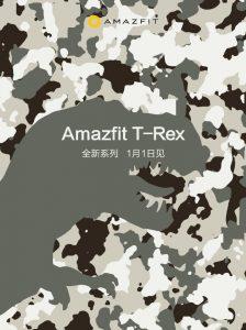La serie Amazfit T-Rex se lanzará en China el 1 de enero