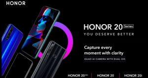 La serie Honor 20 confirmada para ser oficial en India el 11 de junio