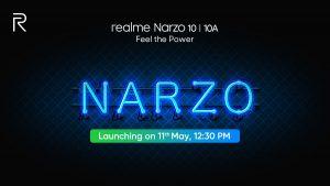 La serie Realme Narzo 10 se lanzará finalmente en India el 11 de mayo