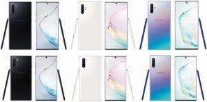 La serie Samsung Galaxy Note10 vendrá en tres opciones de color