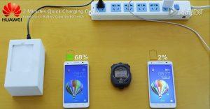 La tecnología de carga rápida de Huawei carga el 50% de la batería en 5 minutos