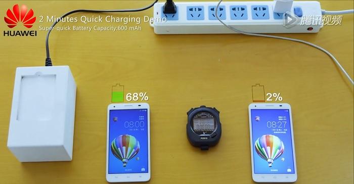 demostración-de-carga-rápida-de-dos-minutos-de-Huawei