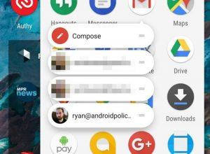 La última actualización de Gmail para Android ofrece accesos directos a aplicaciones para cuentas de correo electrónico