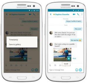 La última actualización de Skype te permite guardar mensajes de video