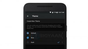 La última actualización para Telegram en Android brinda soporte para temas personalizados