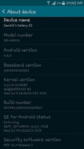 La variante Samsung Galaxy S5 Exynos recibe una actualización para mejorar el rendimiento