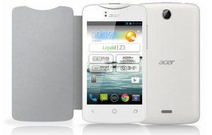 Lanzamiento de Acer Liquid Z3 con pantalla de 3,5 pulgadas.