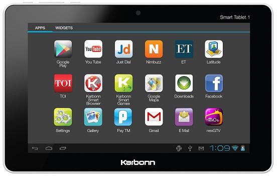 Lanzamiento de Karbonn Smart Tab 1, tableta de 7 pulgadas con Android ICS
