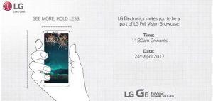 Lanzamiento de LG G6 en India el 24 de abril