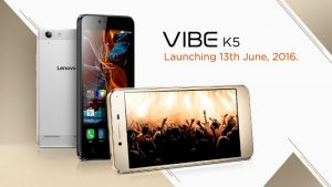Lanzamiento de Lenovo Vibe K5 en India el 13 de junio