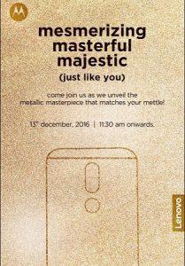 Lanzamiento de Moto M en India el 13 de diciembre
