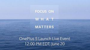 Lanzamiento de OnePlus 5 el 20 de junio