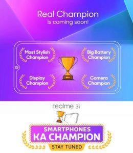Lanzamiento de Realme 3i India provocado;  podría ser presentado junto con Realme X
