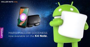 Lanzamiento de la actualización de Android Marshmallow para Lenovo K4 Note