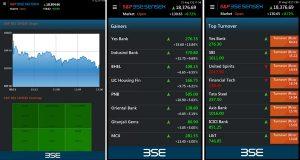 Lanzamiento de la aplicación BSE India on Mobile para mercados de valores