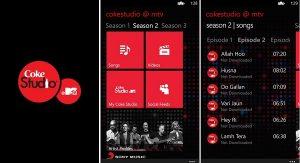 Lanzamiento de la aplicación Coke Studio @MTV para Windows Phone