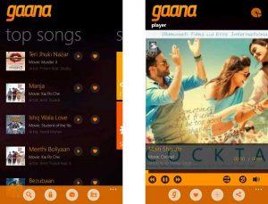 Lanzamiento de la aplicación Gaana para Windows Phone