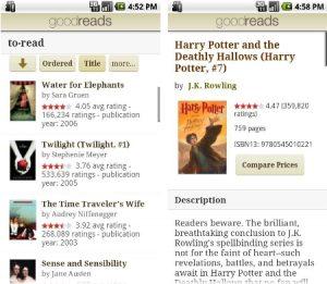 Lanzamiento de la aplicación Goodreads para la plataforma Android