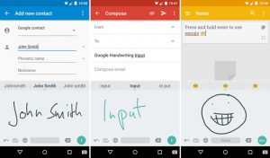 Lanzamiento de la aplicación Google Handwriting Input para Android