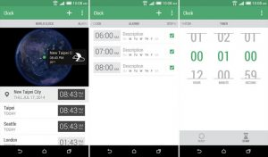 Lanzamiento de la aplicación HTC Clock en Google Play Store