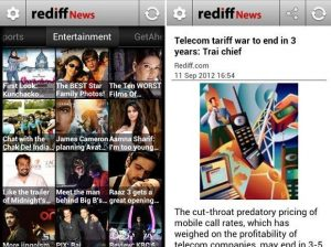 Lanzamiento de la aplicación Rediff News para dispositivos Android