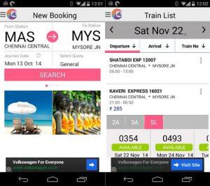 Lanzamiento de la aplicación de reserva de trenes IRCTC Connect para Android