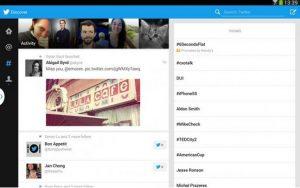 Lanzamiento de la nueva aplicación de Twitter para tabletas Android