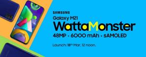 Lanzamiento del Samsung Galaxy M21 India pospuesto hasta el 18 de marzo