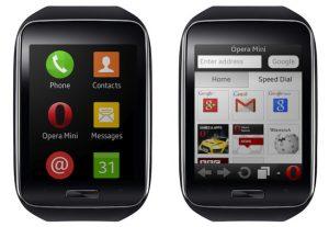 Lanzamiento del navegador web Opera Mini para el reloj inteligente Samsung Gear S