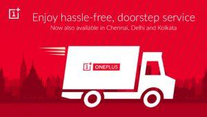 Lanzamiento del servicio OnePlus de recogida y entrega a domicilio en Chennai, Delhi y Kolkata