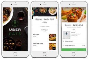 Lanzamiento del servicio de entrega de alimentos en línea UberEATS en India