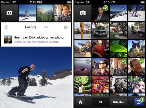Aplicación de cámara de Facebook para iOS
