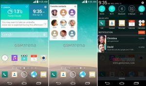 Las capturas de pantalla del LG G3 se filtran, nos muestra la interfaz de usuario más plana y confirma la resolución QHD