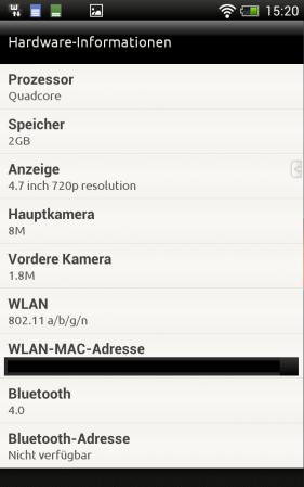 Las especificaciones de HTC One XXL se filtran con un procesador de cuatro núcleos y 2 GB de RAM