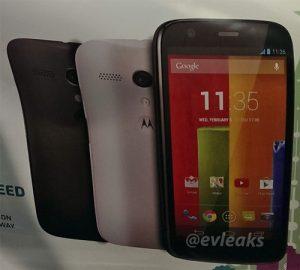 Las especificaciones de Moto G incluyen pantalla de 4.7 pulgadas con cámara de 8 MP