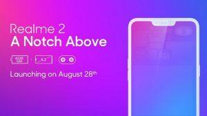 El lanzamiento de Realme 2 en India la próxima semana vendrá con una pantalla con muescas de 6.2 pulgadas y un procesador Snapdragon