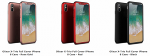 Las fundas filtradas para el iPhone 8 de Apple acentúan el diseño sin bisel y el escáner de huellas digitales en pantalla