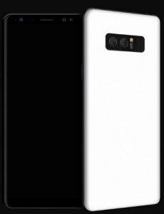 Las máscaras del Galaxy Note8 enumeradas en línea nos dan una idea de su diseño
