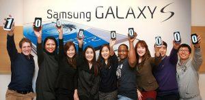 Las ventas de los teléfonos inteligentes Samsung Galaxy S Series superan la marca de los 100 millones