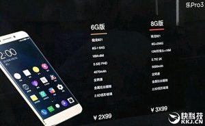 LeEco Pro 3 para hacer alarde de 8 GB de RAM y 256 GB de almacenamiento junto con Snapdragon 821