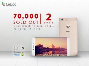 LeEco agotó 70000 teléfonos Le 1s en 2 segundos durante la primera venta flash