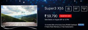 LeEco trae emocionantes ofertas para Super TV en su primera venta flash