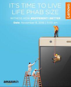 Lenovo Phab 2 Plus con pantalla de 6.4 pulgadas y configuración de cámara dual se lanzará en India el 8 de noviembre
