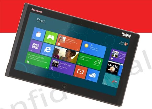 Lenovo ThinkPad Tablet 2 con fugas de Windows 8