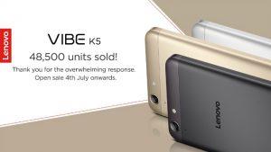 Lenovo Vibe K5 saldrá a la venta en India a partir del 4 de julio