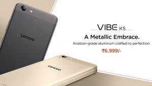 Lenovo Vibe K5 ya está disponible para su compra mediante venta abierta en India