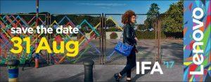 Lenovo confirma el evento principal el 31 de agosto en IFA 2017 con una imagen teaser